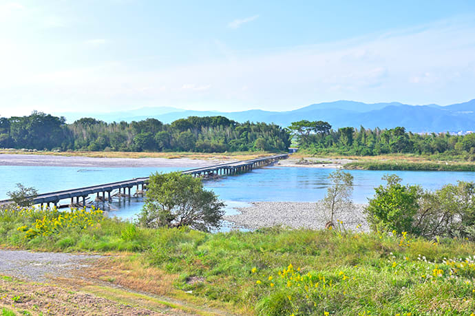 The Yoshino River runs through northern Tokushima Prefecture