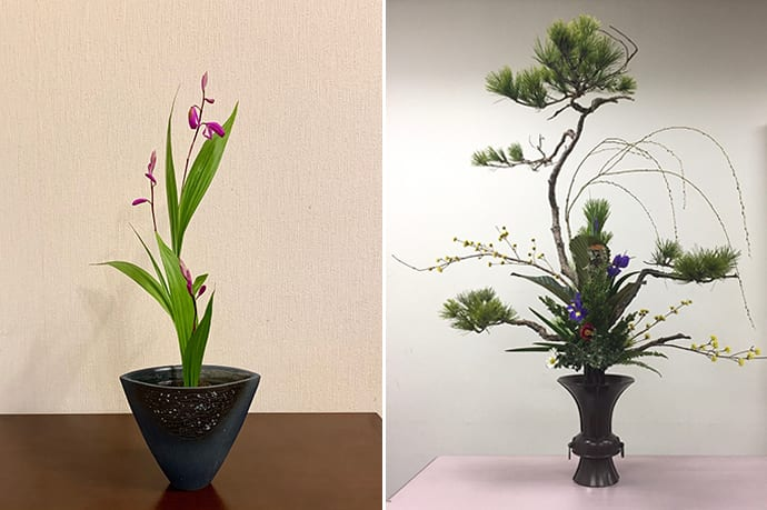 """Rikka"" is the most traditional style of ikebana. The form expresses natural landscapes. Photo credit: Wabunka Experiences"
