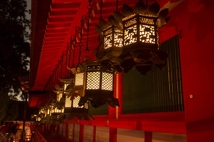 The lanterns at Kasuga Taisha Shrine. Watch the lamp-lighting ritual online.