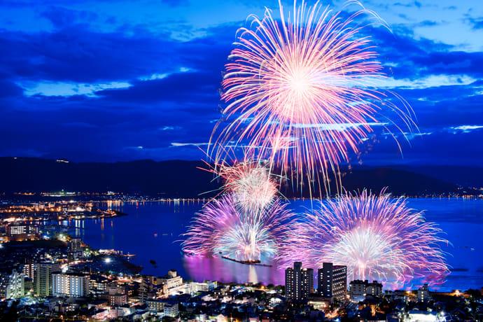 The Lake Suwa Fireworks Festival