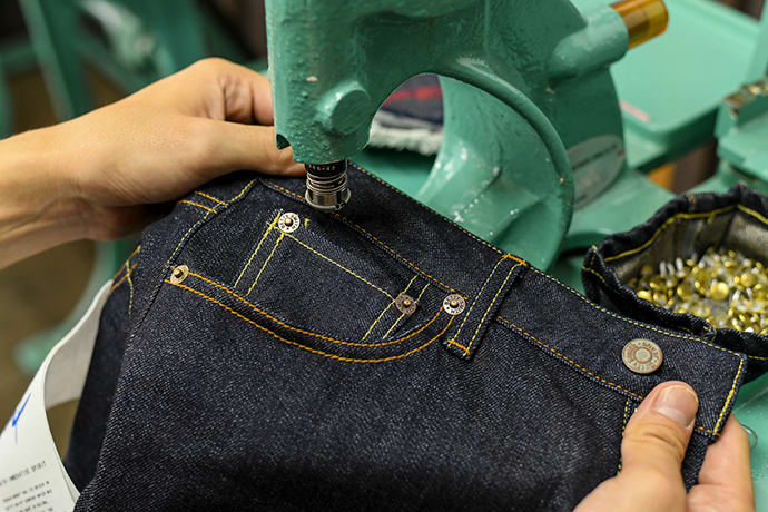 Making original denim using the same tools used by Japan's denim artisans