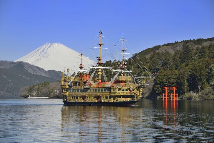 Mt. Fuji seen from Lake Ashi