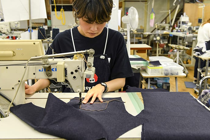 Betty Smith is the oldest jeans factory in Japan. It is still in operation today.