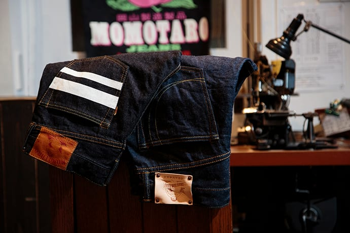 Momotaro Jeans artisans craft high-quality jeans by hand in Kojima. Each pair comes with a 10-year guarantee.