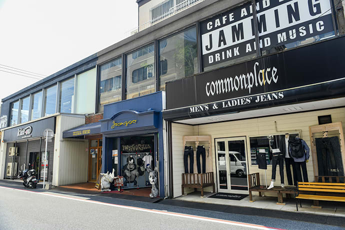 Around 100,000 people visit Jeans Street in the Kojima district every year