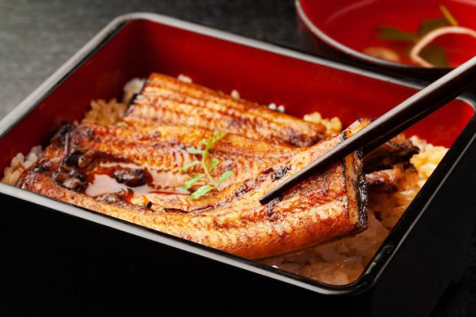 Unaju (grilled eel on rice)