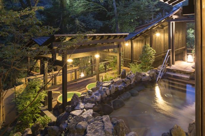 A hot spring in Hakone