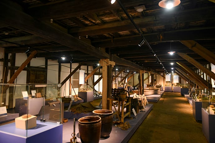 The Ai no Yakata historical museum houses many Important Cultural Properties