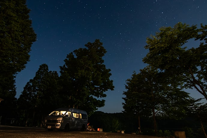 Japan's auto-friendly campsites are very safe.