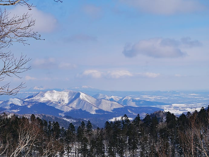 The winter snowscape in Akan.