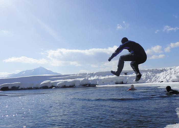 Experience Frozen Lake Shikotsu on an Exhilarating Ice Hike