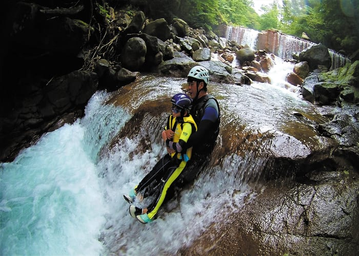 Family-Friendly Canyoning at a Beautiful Waterfall