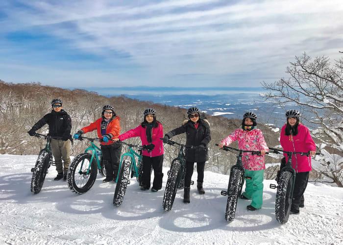 Cycle Through the Snow of Mount Nasu