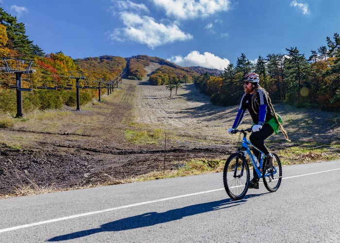Downhill Cycling on Mount Daisen