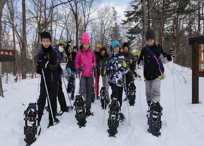 Snowshoeing to the Icicles of Nanajo Waterfall