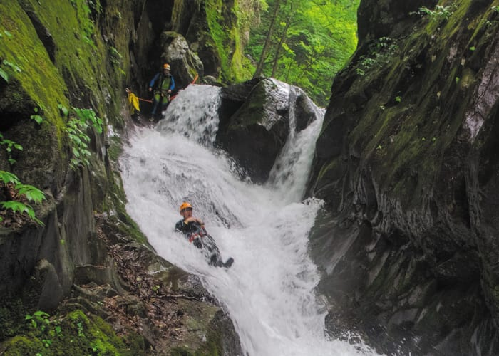 Canyoning in Nikko