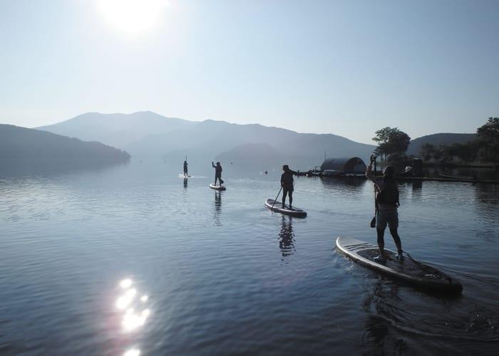 Try Stand-Up Paddleboarding at Lake Nojiri