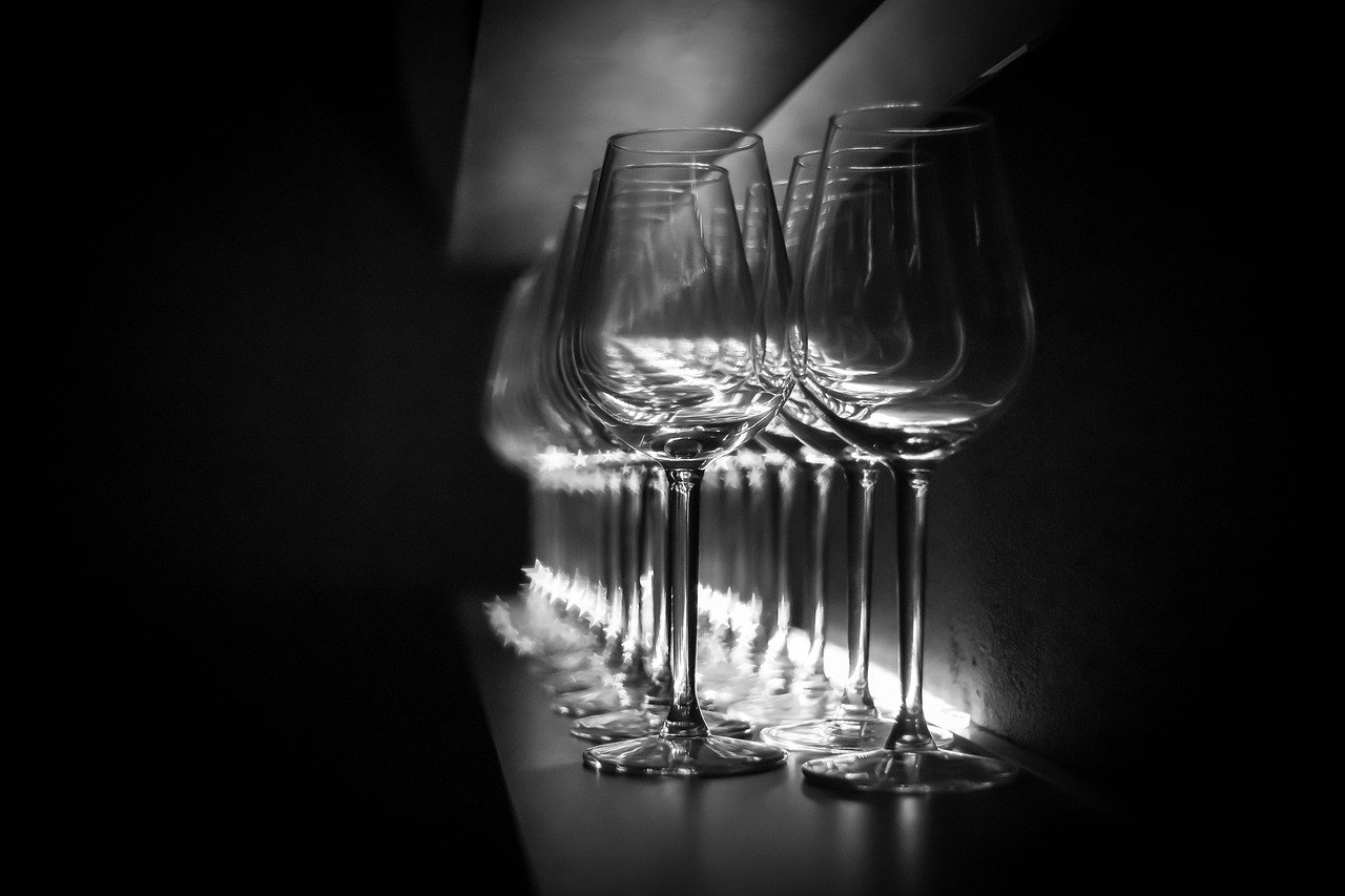 Glass in the dark