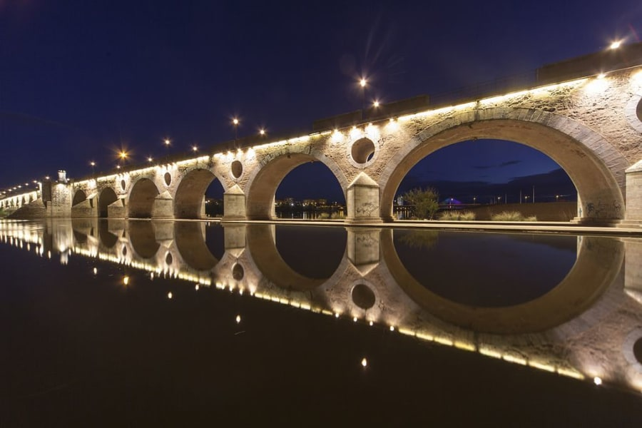 Badajoz at night