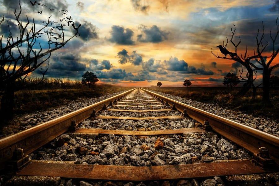 Via de tren vieja