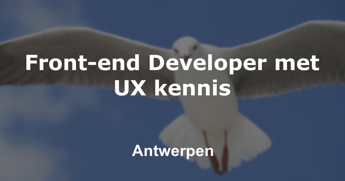 Front-end Developer met UX kennis