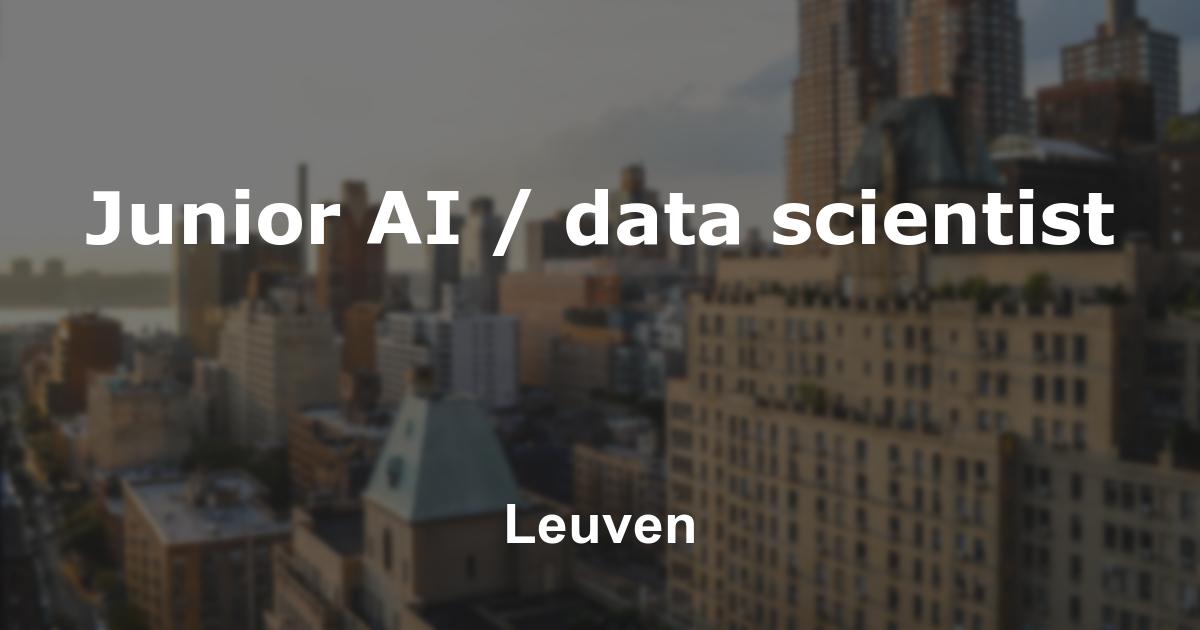 Junior AI / data scientist