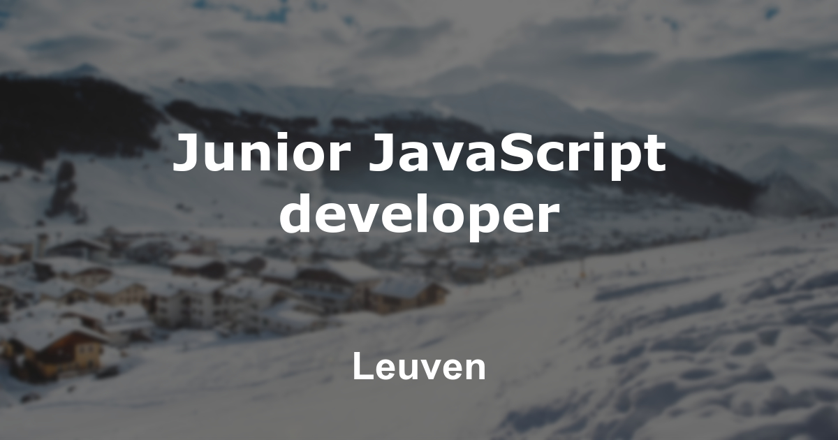 Junior JavaScript developer