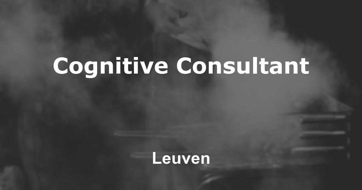 Cognitive Consultant