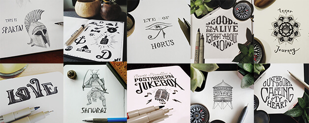 My best hand lettering and sketches of 2016 joel m turner my best hand lettering and sketches of 2016 altavistaventures Image collections