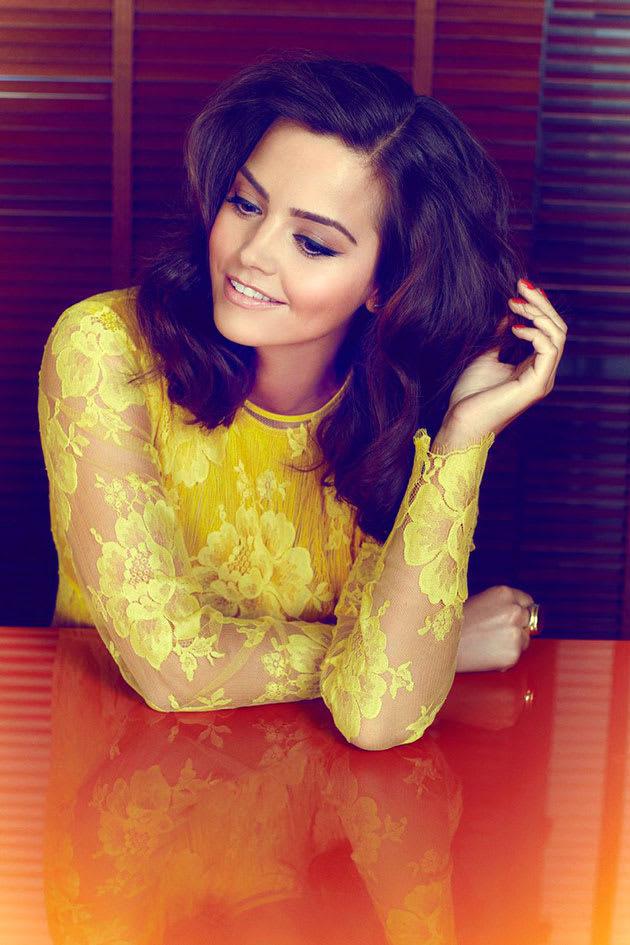Jenna-Louise Coleman yellow lace