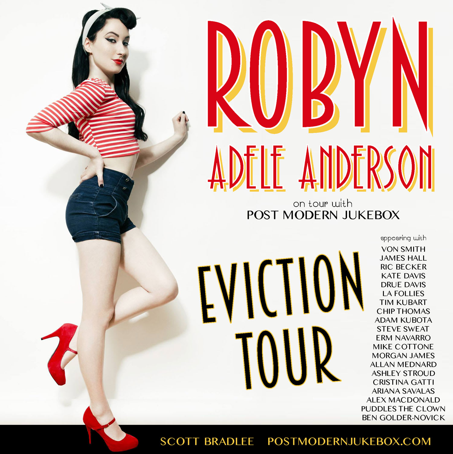 Robyn Adele Anderson Eviction Tour Promo Poster