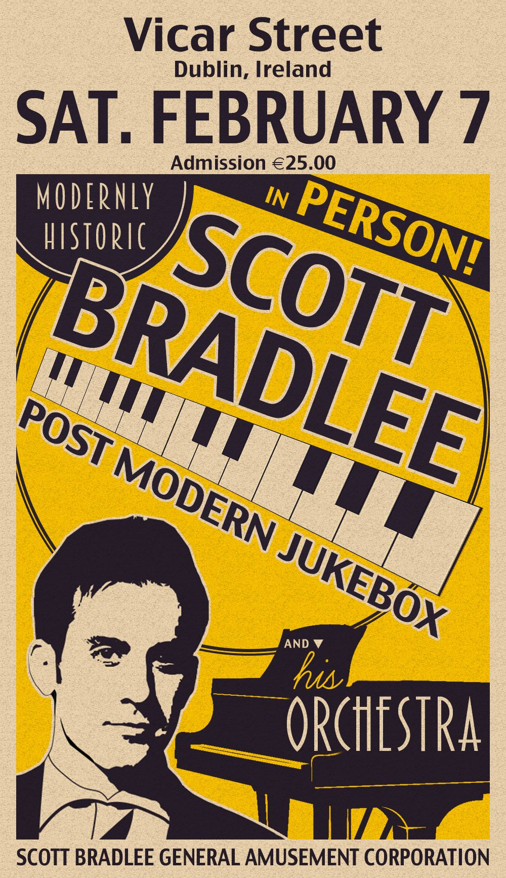 Scott Bradlee Event Poster