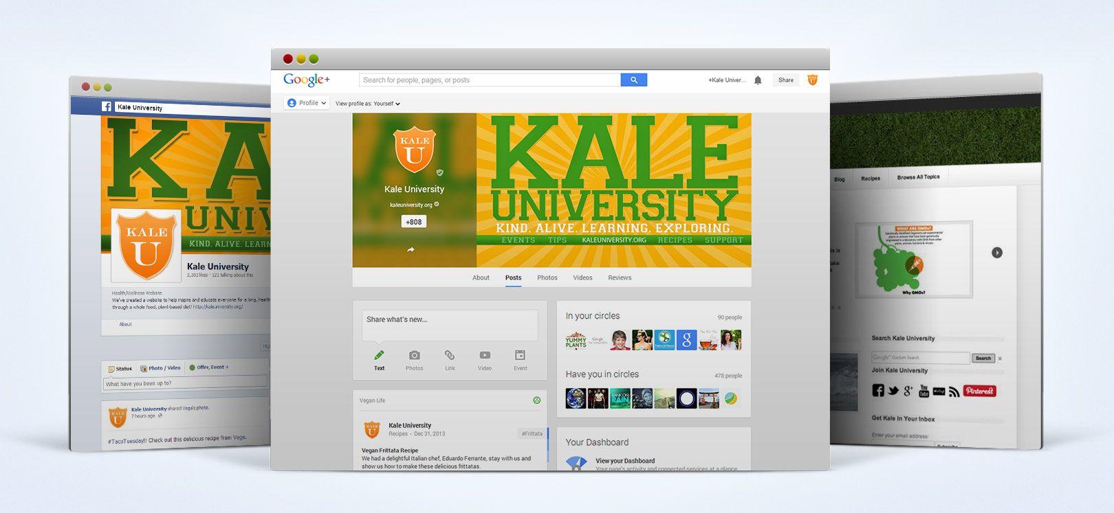 kale university social media design