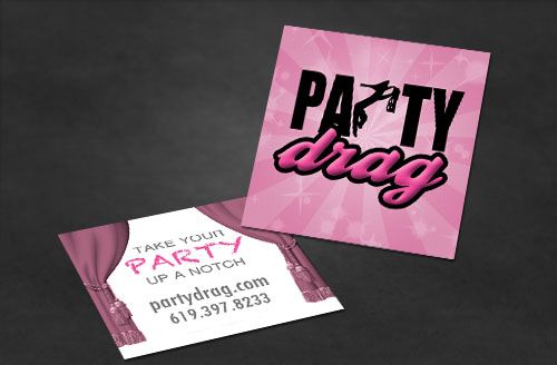 party-drag-business-cards