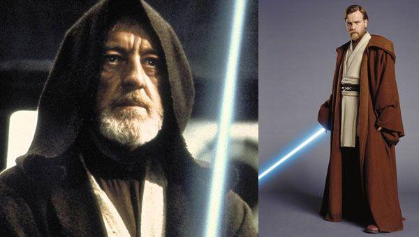 Obi-wan Kenobi then and now