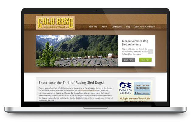 Gold Rush Dog Sled Tours website design development