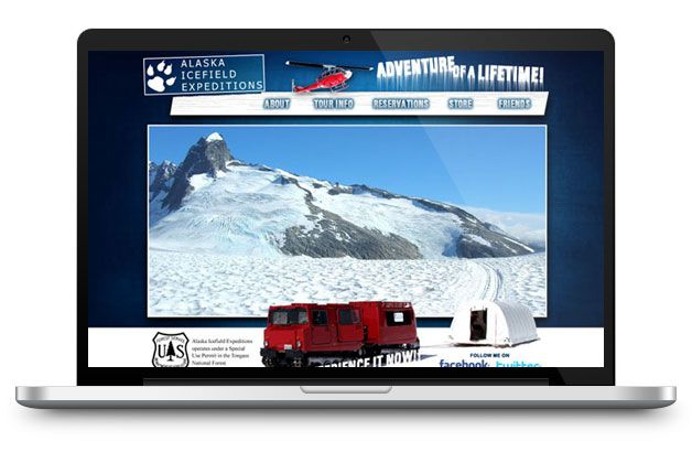 alaska icefield expeditions website design development