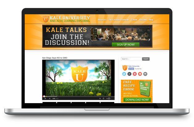 kale university website design development