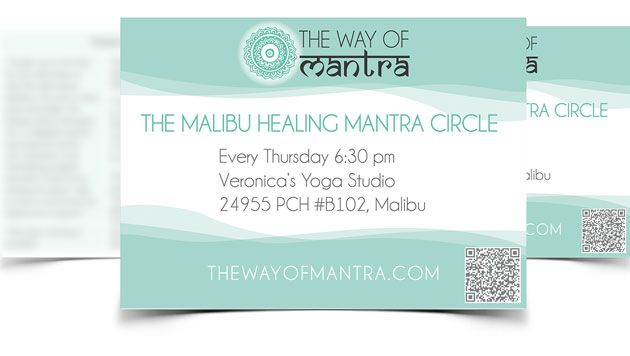 the way of mantra postcard design