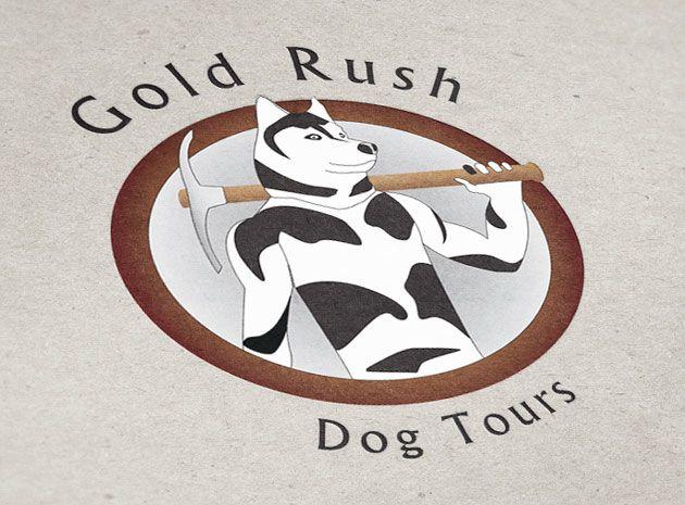 Gold Rush Dog Sled Tours logo design