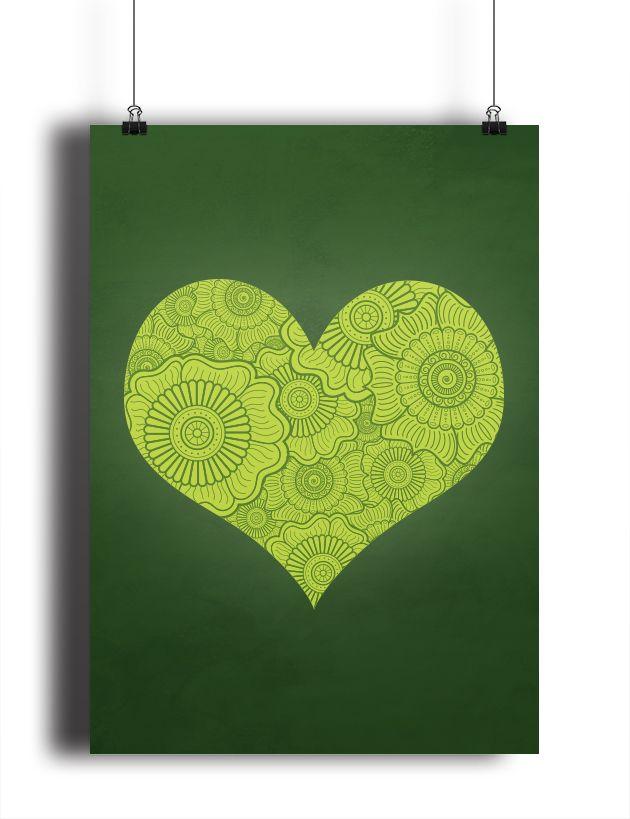 Mehndi Heart poster