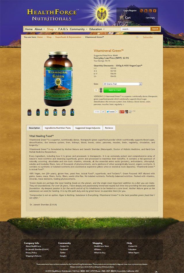 HealthForce website design