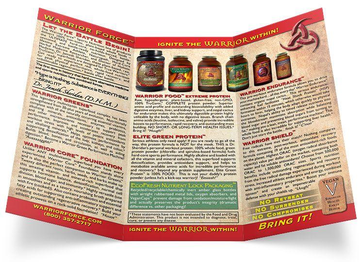 warrior force healthforce tri fold brochure design
