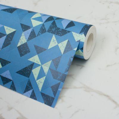 kék kockás tapéta