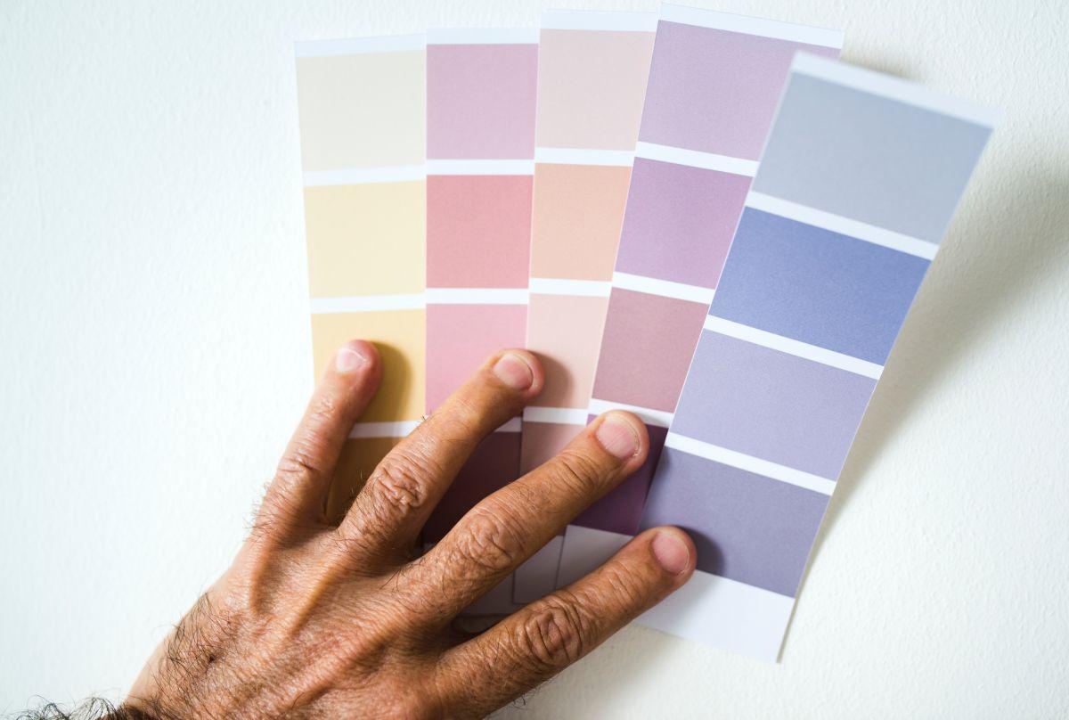 színkártya a nyíregyházi festékboltban