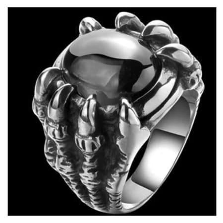black Dragon Claw Stone Ring