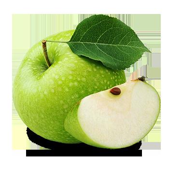 green apple slice