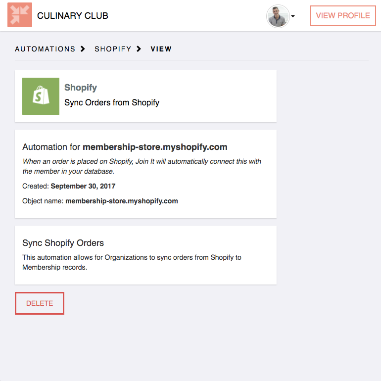 Sync shopify to Membership Database | Join It