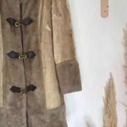 Vintage 1970s faux fur ILGWU Penny Lane Coat