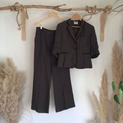90s Moschino Cheap and Chic brown Linen suit